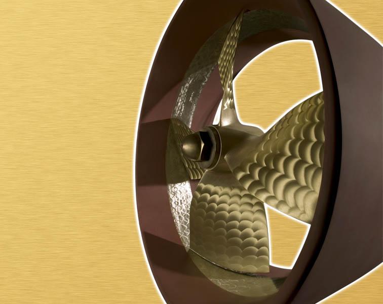 elica e mantello vista laterale - Eliche Radice